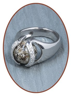 Close2Me© 'Always With Me' Sterling Silver Cremation Ash Ring - CM015R