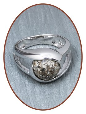 Close2Me© 'Close To Me' Sterling Silver Cremation Ash Ring - CM016R