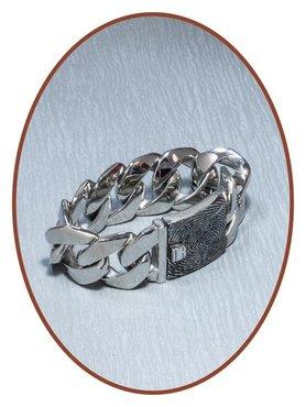 Stainless Steel Mens Fingerprint Remembrance Bracelet  - JBF023V