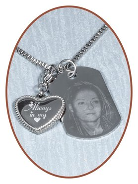Stainless Steel Photo Remembrance Pendant - GE001