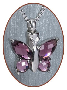 Stainless Steel Cremation 'Butterfly' Pendant - B031