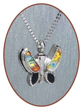 Stainless Steel 'Butterfly' Cremation Pendant - B025