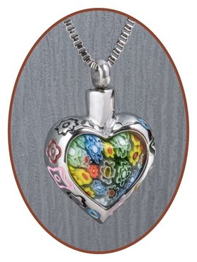 Stainless Steel 'Heart' Cremation Pendant - B024