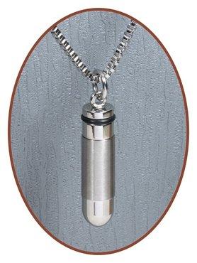 Stainless Steel JB Memorials Premium Design 'Bullit' Cremation Pendant - B010A