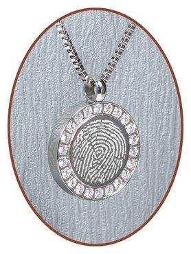 Stainless Steel Fingerprint Cremation Pendant - B006V