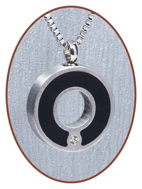 Stainless Steel 'Circle' Cremation Pendant - B209