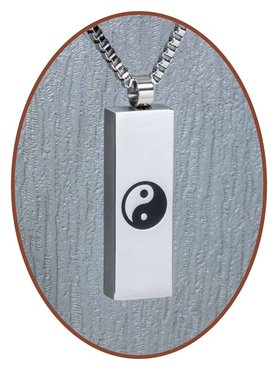 Stainless Steel Design Cremation Pendant 'Yin Yang' - B183