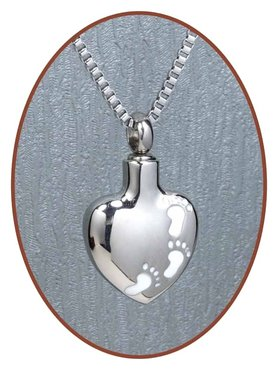 Stainless Steel 'Baby Feet' Cremation Pendant - B110