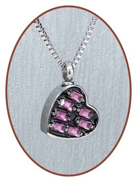 Stainless Steel Heart Cremation Pendant - B091