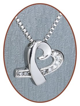 Stainless Steel 'Heart' Cremation Pendant - B332