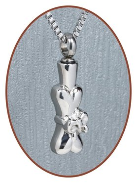 Stainless Steel Cremation Pendant 'Bone' - D023