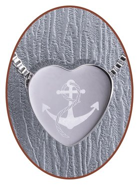 Stainless Steel 'Anchor' Heart Cremation Pendant - B304ANC