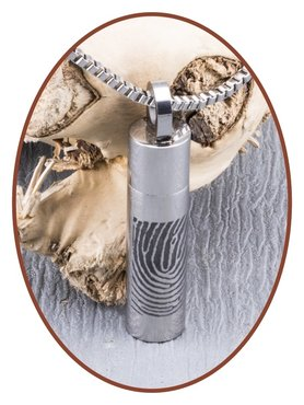 Stainless Steel Fingerprint Cremation Pendant - B270V
