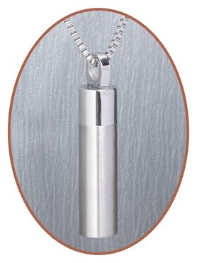 Stainless Steel 'Tube' Cremation Pendant - B270