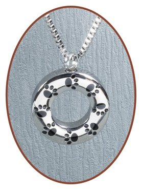 Stainless Steel  Cremation Pet Pendant 'Pawprint' - D050A