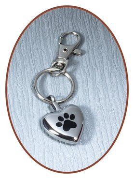 Stainless Steel Cremation  Key-ring 'Paw' - D052