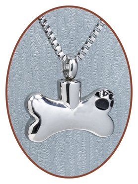 Stainless Steel Cremation Pendant 'Bone' - D012