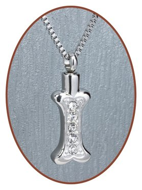 Stainless Steel Cremation Pendant 'Bone' - D014