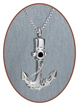 Stainless Steel 'Anchor' Cremation Pendant  - B309