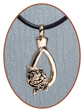 Stainless Steel Tear Rose Gold Cremation Pendant - B316RG