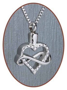 Stainless Steel 'Infinity' Heart Cremation Pendant - B399