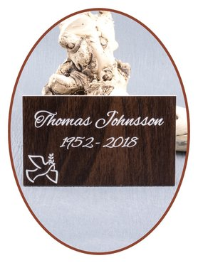 Durable Plastic Walnut Engravable Memorial Plaque - LG021