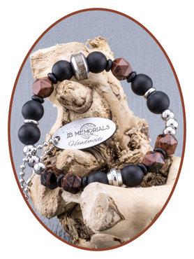 JB Memorials Frosted Agate - Obsidiane Ladies Ash Bracelet - KHA014