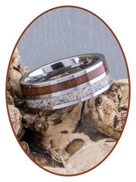 JB Memorials Natureline Wood / Tungsten Cremation Ring - WR005