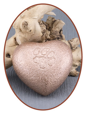 Mini Heart Urn Brass 'Paw Print' - M122B
