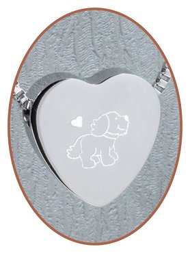 Stainless Steel 'Dog' Heart Cremation Pendant - B304X16