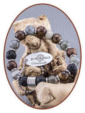 JB Memorials Labradorite/Lava Ash Bracelet - KHA005