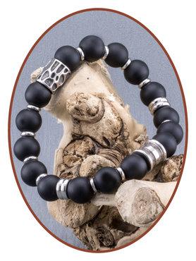 JB Memorials Stainless Steel Onyx Mens Ash Bracelet - KHA017