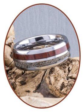 JB Memorials Natureline Wood / Tungsten Cremation Ring - WR004