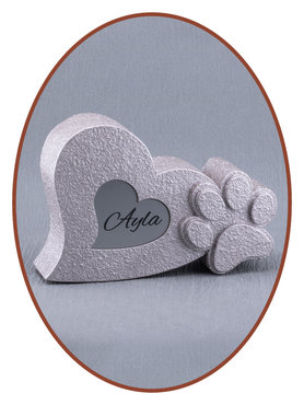 Mini Ash Urn 'Paws in Heart'  in Different Colors - HM395