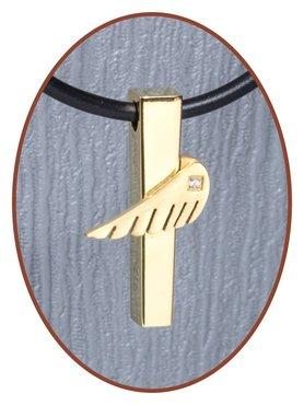 Titanium JB Memorials Premium 'Angelwing' Design Cremation Pendant - T017