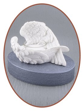 Mini Ash Urn 'Angel Wing' with Tealight Holder in Different Colors - HM405