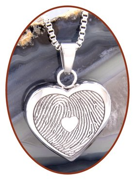 Stainless Steel Fingerprint Remembrance Pendant - VI001