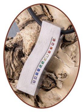 Titanium JB Memorials Exclusive 'Rainbow Wave' Design Cremation Pendant - T012