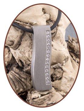 Titanium JB Memorials Premium 'Silver Wave' Design Cremation Pendant - T010