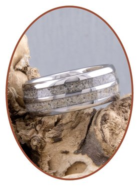 JB Memorials Tungsten Carbide Cremation Ring with Double Ash Processing - WR004DUO