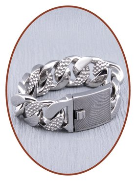 Stainless Steel Mens Fingerprint Remembrance Bracelet  - GED003