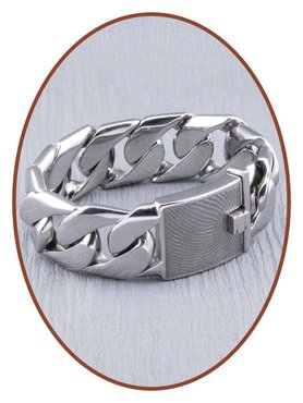 Stainless Steel Mens Remembrance Ashes Bracelet  - GED002