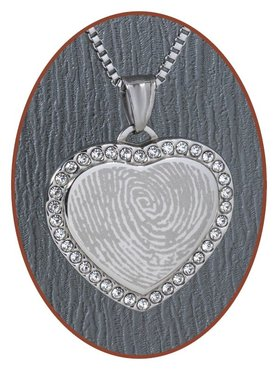 Stainless Steel Engraving Remembrance Pendant - 3333SS