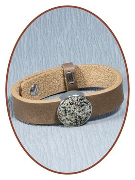 Leather (Fingerprint / Text) Ladies Cremation Ash Bracelet - CU18484
