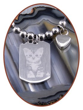 Stainless Steel Combination Photo Cremation Pendant  - CH001