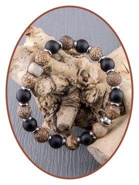 JB Memorials Frosted Agate - Textured Ash Bracelet - KHA019