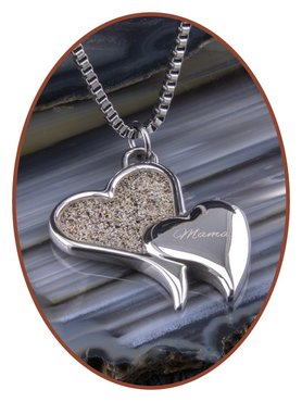 316L Stainless Steel JB Memorials 'Heart' Cremation Pendant - RSP099