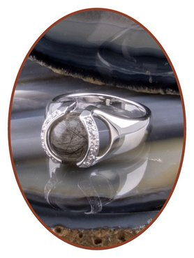 Close2Me© 'Always With Me' Sterling Silver Cremation Hair Ring - CM015H