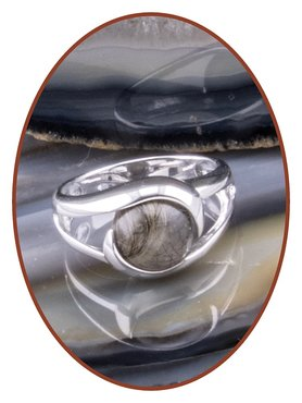 Close2Me© 'Always With Me' Sterling Silver Cremation Hair Ring - CM016H