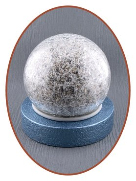 Mini Ash Urn 'Crackle Glass Ball' in Different Colors - HM439